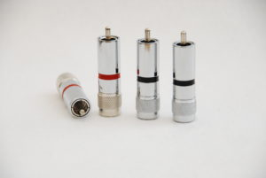 Audiophile Custom Rhodium Plated Copper RCAs