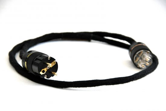High end silver power cable