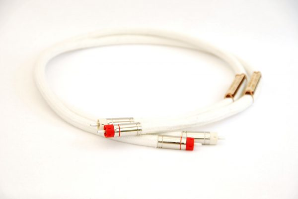 Audiophile silver interconnect cable