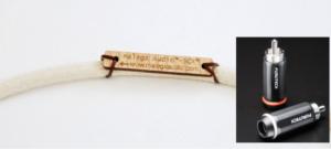 Silver Coaxial Cable - Rhodium RCAs